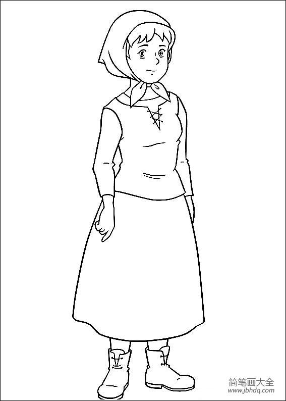 【小仙女简笔画】小女孩海蒂简笔画
