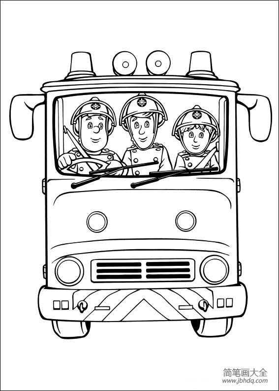 【消防车正面简笔画图片大全】消防车正面简笔画