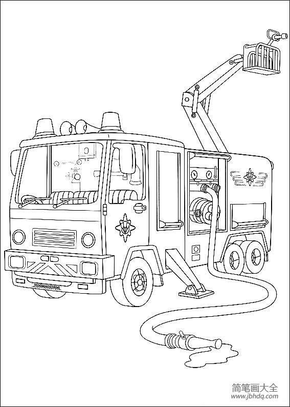 消防车怎么画|如何画消防车
