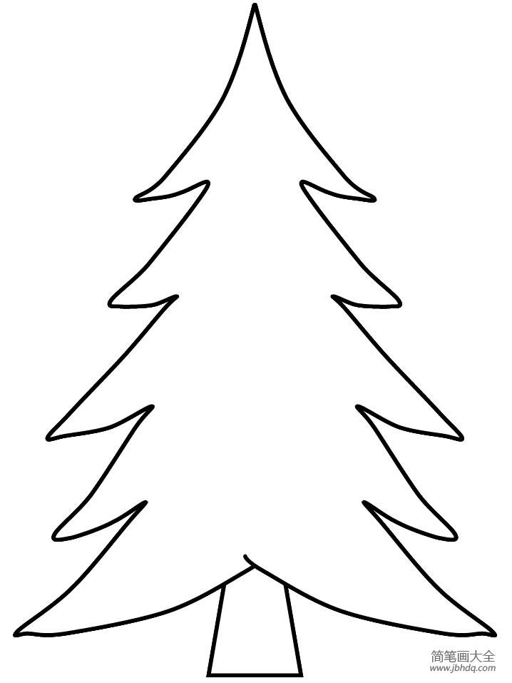 【松树叶简笔画】超简单松树简笔画