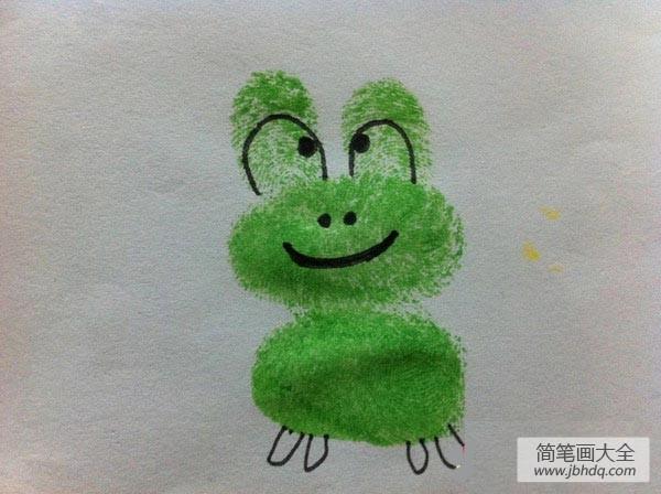 怎么画青蛙简单画法|青蛙手指画画法