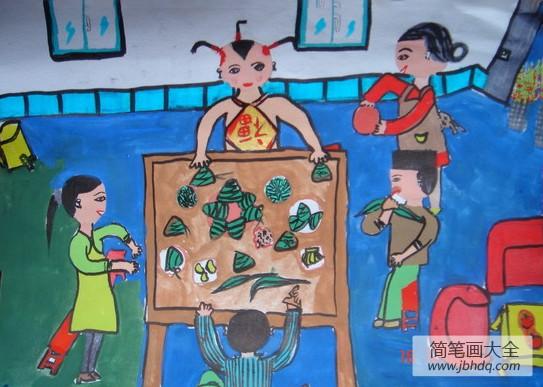 端午节包粽子活动|端午节儿童画,,包粽子