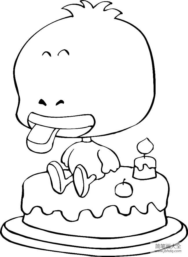 [动物简笔画大全带颜色 卡通]动物简笔画大全,卡通鸭子简笔画图片
