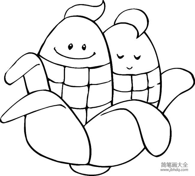 蔬菜简笔画大全卡通玉米简笔画_蔬菜简笔画大全,卡通玉米简笔画