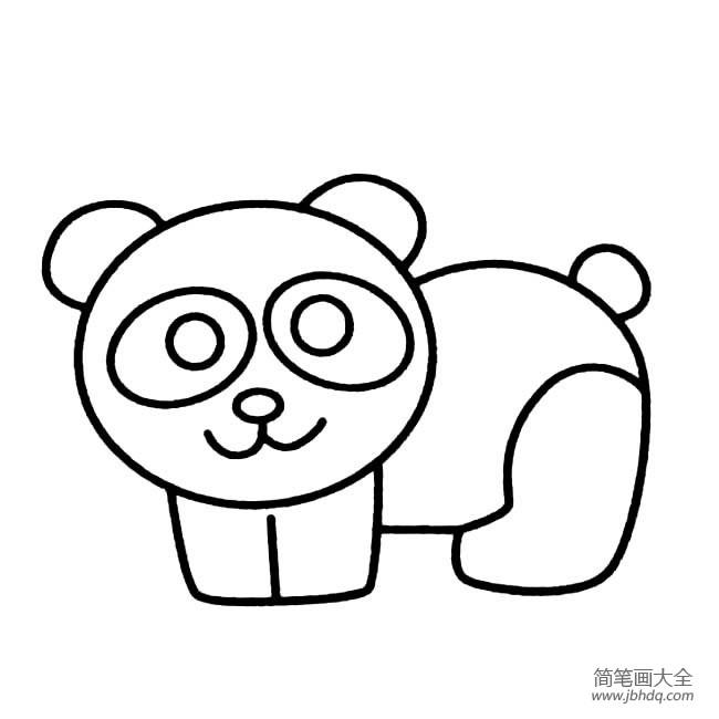 [大熊猫简笔画图片彩色]幼儿简笔画图片大全,大熊猫简笔画
