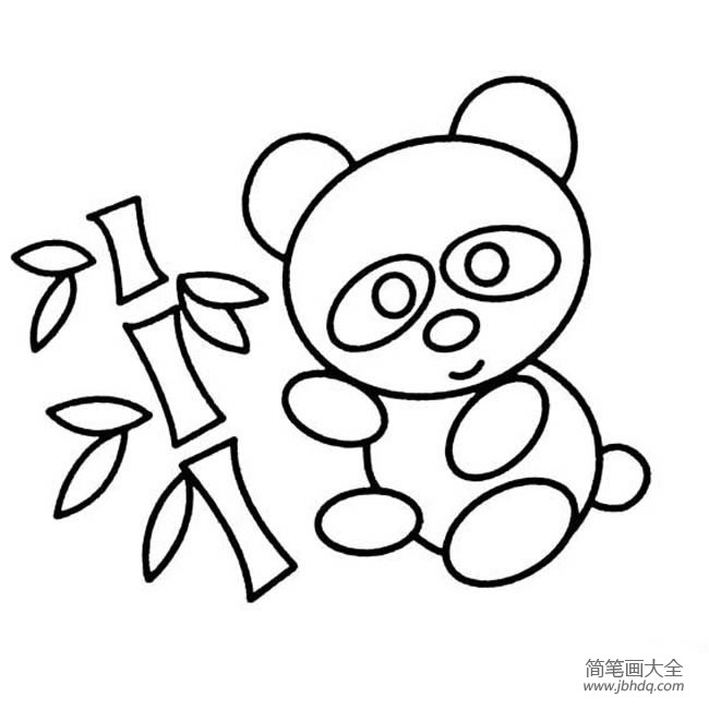 大熊猫和竹子简笔画图片大全_大熊猫和竹子简笔画图片