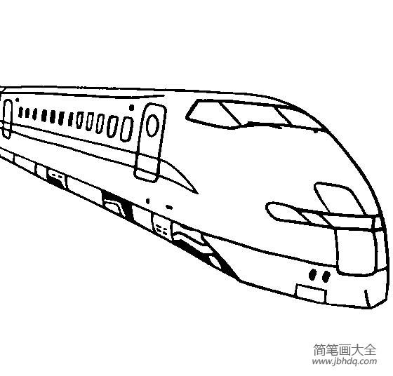 未来的高速火车简笔画_高速火车简笔画图片