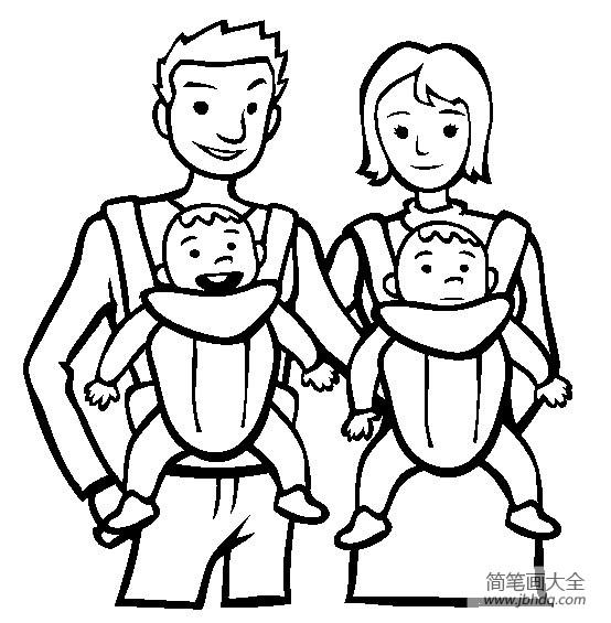 爸爸妈妈和宝宝_[爸爸妈妈我想对你说]爸爸妈妈和宝宝简笔画图片 - 海绵宝宝 - 百 ...