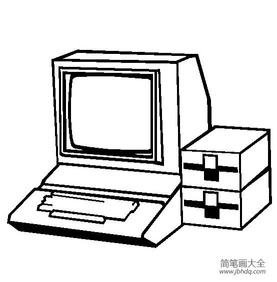 【生活用品简笔画个人计算机简笔画图片大全】生活用品简笔画,个人计算机简笔画图片