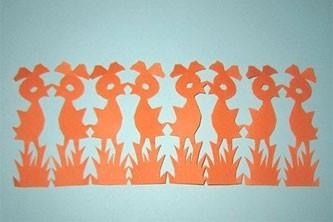 幼儿园教案 八只小鸡的折剪