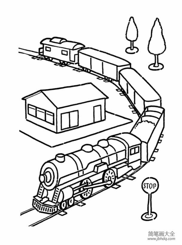 火车的简笔画图片大全_火车图片,货运火车简笔画