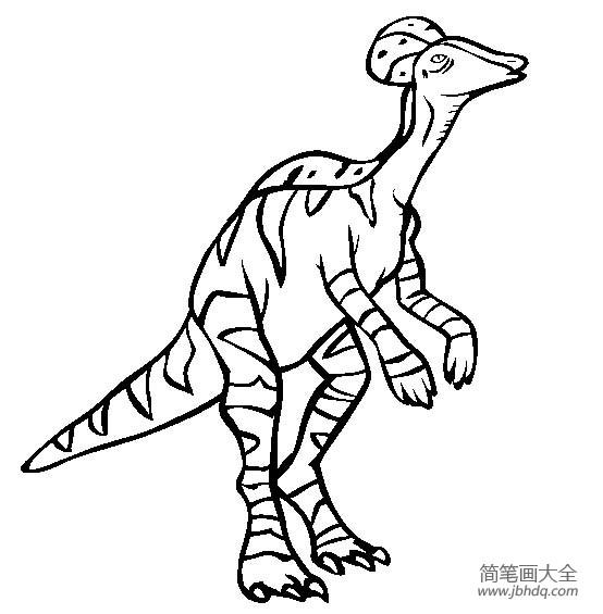 恐龙图片大全 冠龙简笔画图片