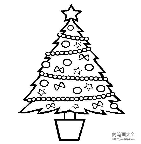 圣诞节图片 圣诞树简笔画图片