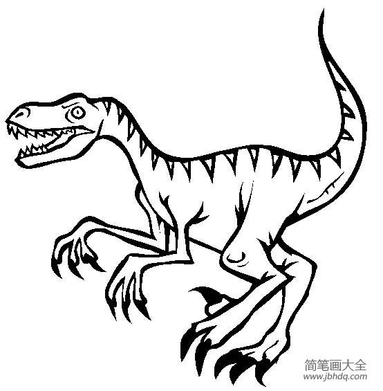 恐龙图片大全 迅猛龙简笔画
