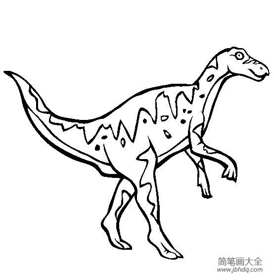 恐龙图片大全 鸭嘴龙简笔画图片