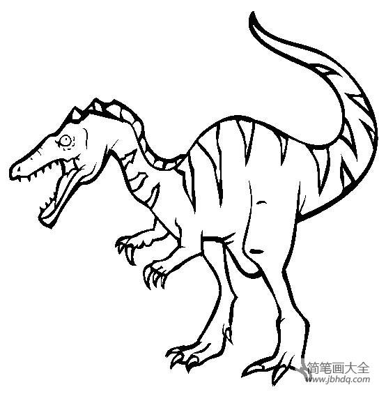 恐龙图片大全 重爪龙简笔画