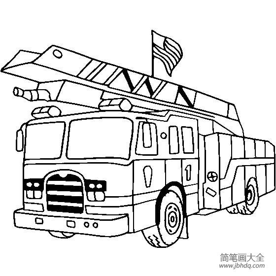 消防车消防车救火视频大全_消防车图片,简单的消防车画法