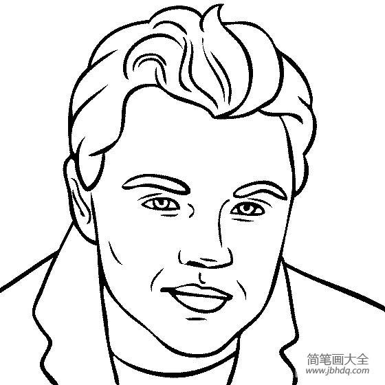 著名建筑物简笔画图片|人物简笔画,著名演员莱昂纳多·迪卡普里奥简笔画图片