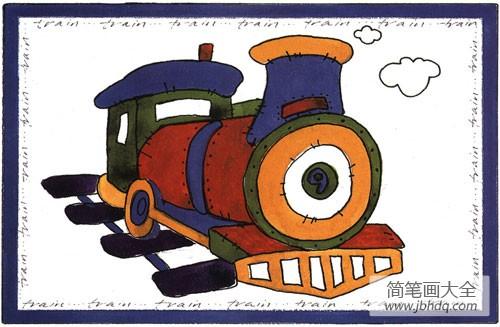 【儿童画画学习】儿童画,小小火车头