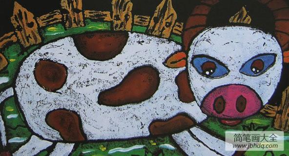 儿童画画学习_儿童画,可爱的小猪