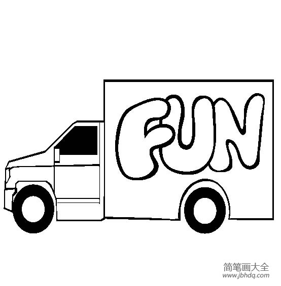 大货车怎么画简单图片_大货车图片,货车的画法简笔画