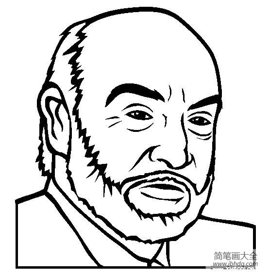 [著名建筑物简笔画图片]人物简笔画,著名演员肖恩康纳利简笔画图片