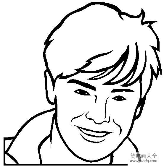 [著名建筑物简笔画图片]人物简笔画,著名演员扎克埃夫隆简笔画图片