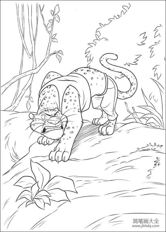 动漫人物简笔画 疯狂动物城系列简笔画图片