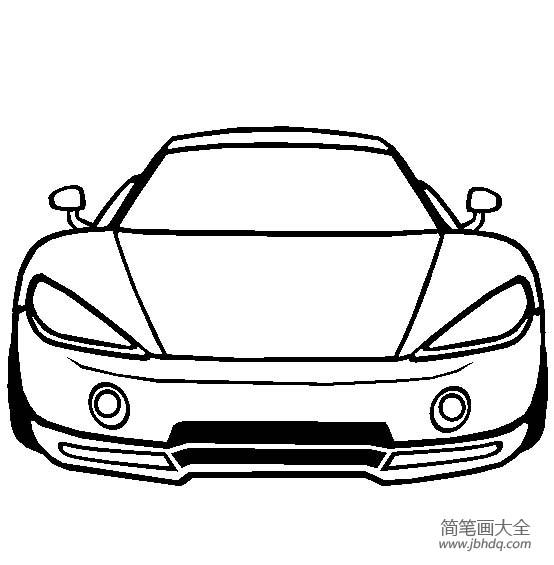 阿斯卡里KZ1超级跑车简笔画图片