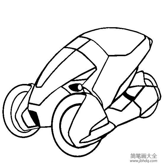 超级跑车 本田3rc概念车简笔画图片