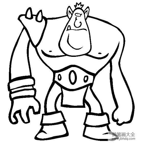 动漫人物简笔画 怪物电力公司简笔画