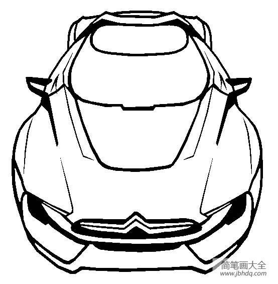 雪铁龙GT超级跑车简笔画