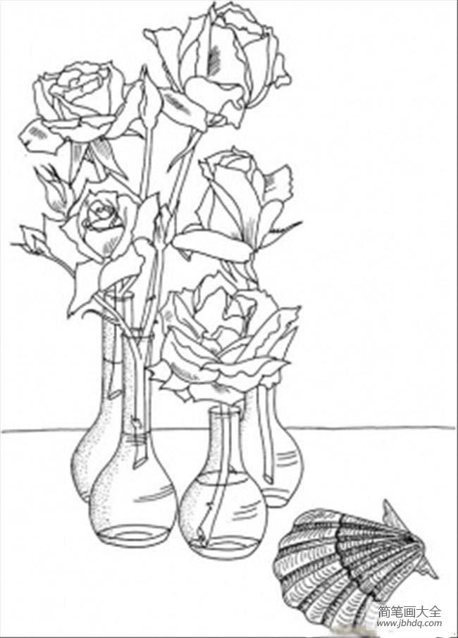 花朵图片 玫瑰花简笔画图片大全