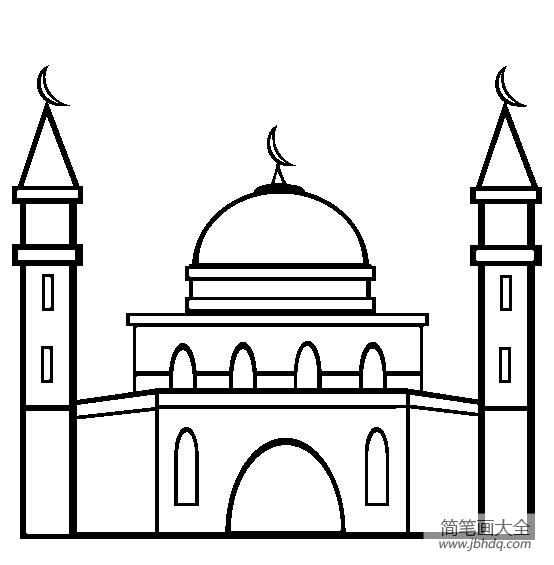 [建筑简笔画大全图片]建筑图片,清真寺简笔画图片