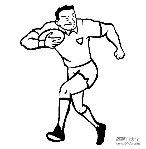 体育运动图片 橄榄球运动员简笔画图片