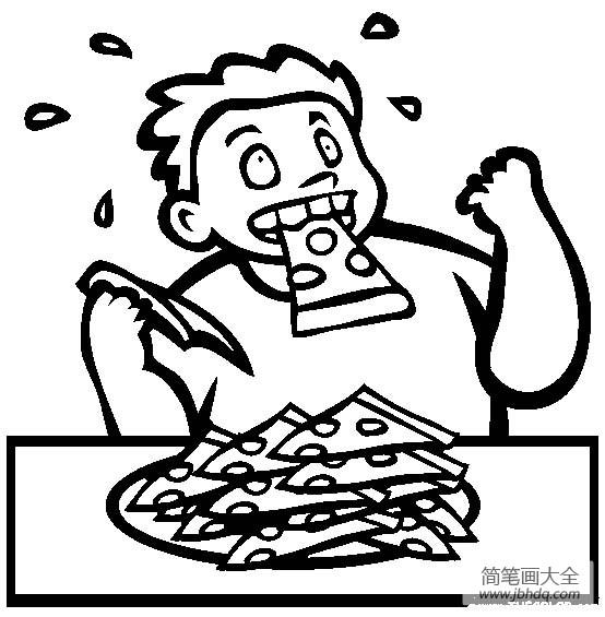[体育运动简笔画图片大全]体育运动图片,大胃王比赛简笔画图片