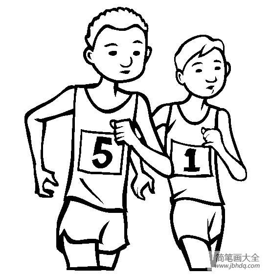 [体育运动简笔画图片大全]体育运动图片,竞走简笔画图片