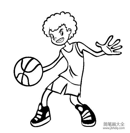 体育运动图片 篮球简笔画图片
