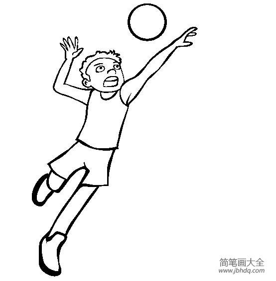 体育运动图片 排球简笔画图片