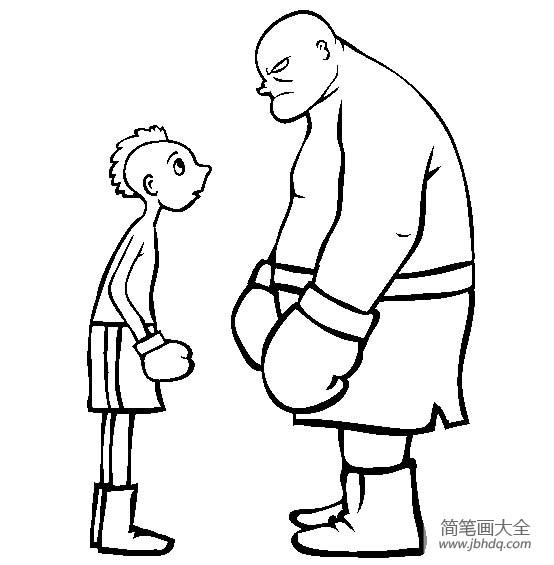 体育运动图片 拳击简笔画图片