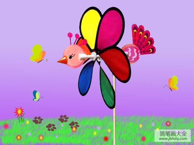 幼儿园大班教案 动物风车
