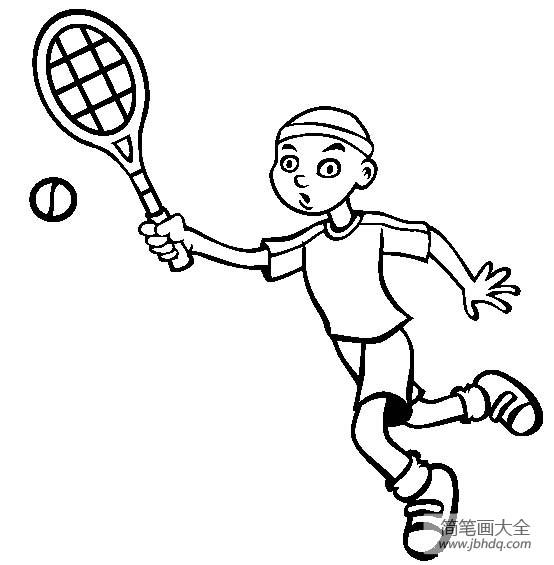 体育运动简笔画图片大全_体育运动图片,网球简笔画图片
