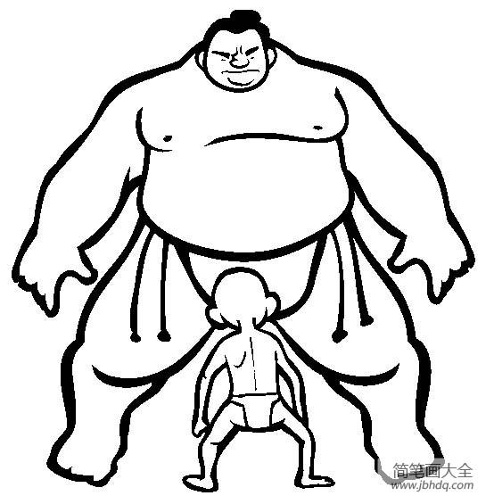体育运动图片 相撲简笔画图片