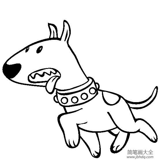 宠物狗简笔画图片