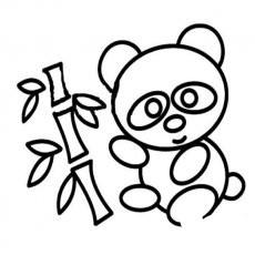 可爱小熊猫简笔画图片大全|可爱小熊猫简笔画
