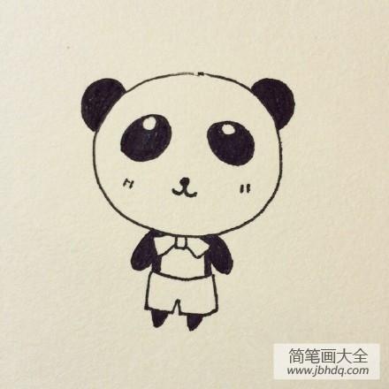 【超可爱的卡通大熊猫简笔画】超可爱的卡通大熊猫简笔画