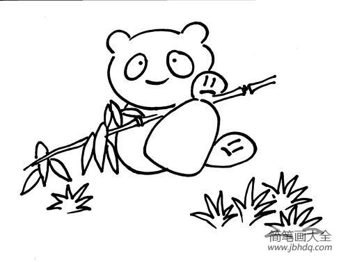 大熊猫简笔画图片大全_可爱大熊猫简笔画图片集锦