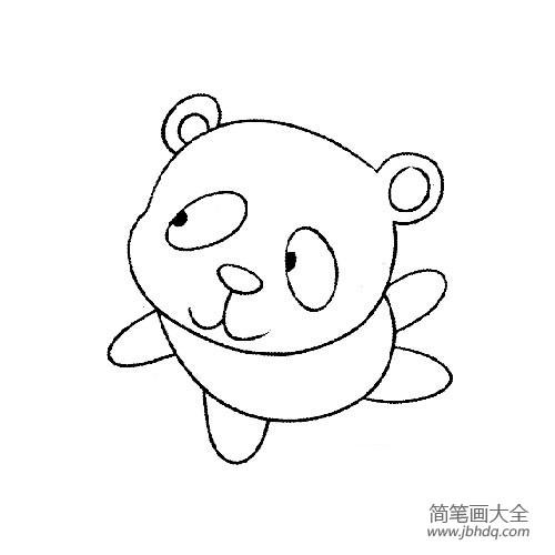 搞笑萌娃图片|搞笑蠢萌的大熊猫简笔画