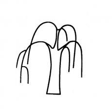 [简单的柳树简笔画图片大全]简单的柳树简笔画