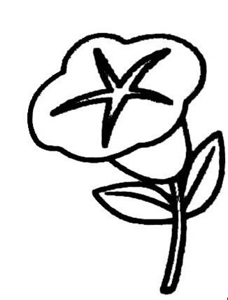 花朵简笔画美丽牵牛花简笔画图片大全_花朵简笔画,美丽牵牛花简笔画